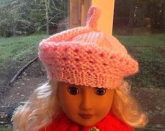 American Girl Doll Light Pink Tam Hat at NeedlesandPinsShop
