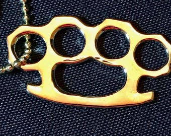 Cool Brass knuckles charm / Pendent necklace