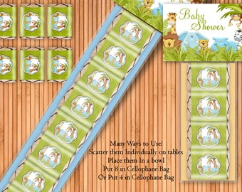 Jungle - Baby Shower Printable Hershey Nugget Wrappers Kit - Instant Download