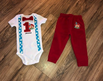 10fa967ce Clown first birthday baby boy circus outfit