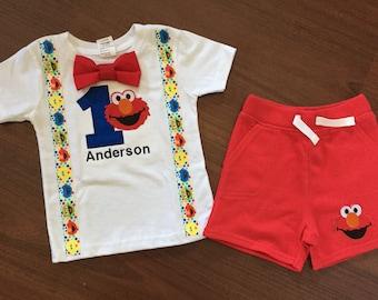 Elmo 1st Birthday Shirt