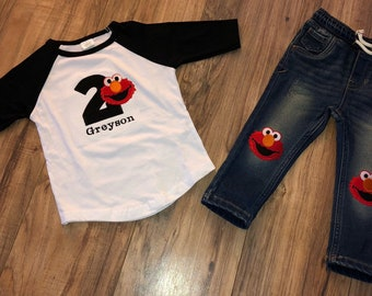 Elmo 2nd Birthday Baby Boy Outfit