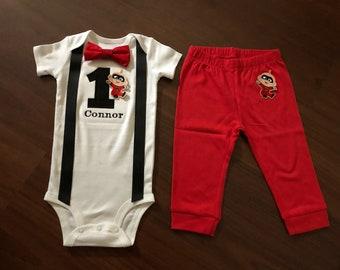 adecbf1bbdd Jack jack first birthday baby boy outfit