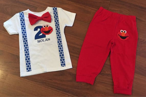 Elmo 2nd Birthday Boy Outfit Baby Second