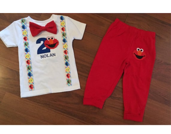 Elmo 2nd Birthday Boy Outfit Baby Second Party Smash Cake