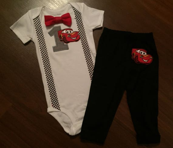 Cars Baby Boy First Birthday Outfit 1st Party