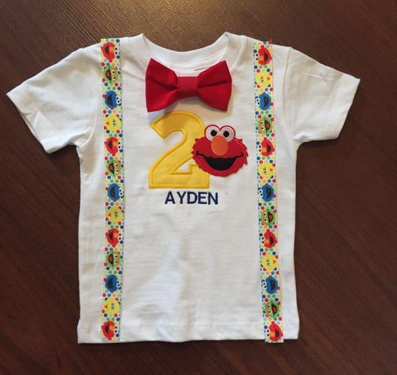 Elmo Inspired Second Birthday Baby Boy Outfit Baby Boy 2nd Etsy