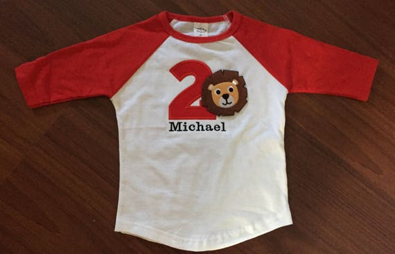 Circus Lion Second Birthday Baby Boy Shirt 2nd Theme Party