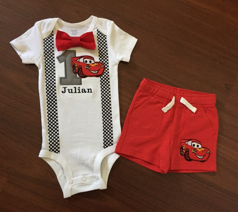 Cars First Birthday Baby Boy Outfit Cars 1st Birthday Boy Etsy