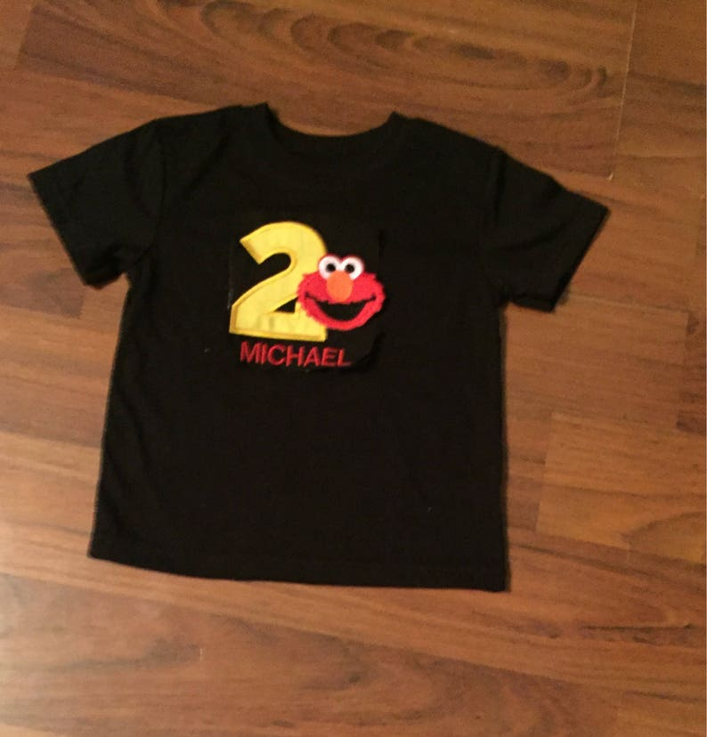 Elmo Personalized Embroidered First Birthday Boys
