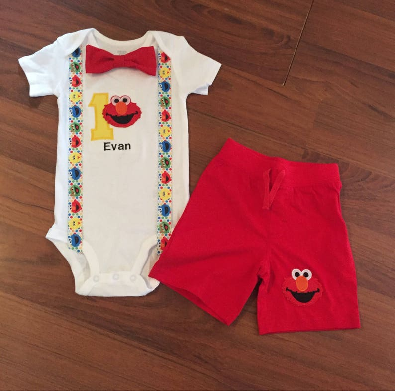 876517861 Elmo Personalized inspired Embroidered First birthday Boys | Etsy