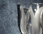 Lalique Tulips Deux Tulipes - Crystal Vase Hand Signed - Made in France