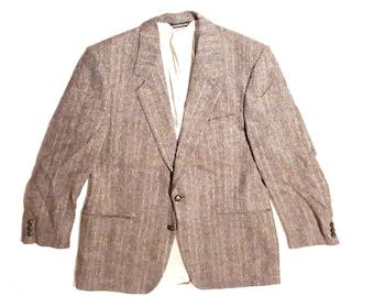 ANTARCTOSAURUS 1990's Harris Tweed two button single vent medium collar 42 Reg