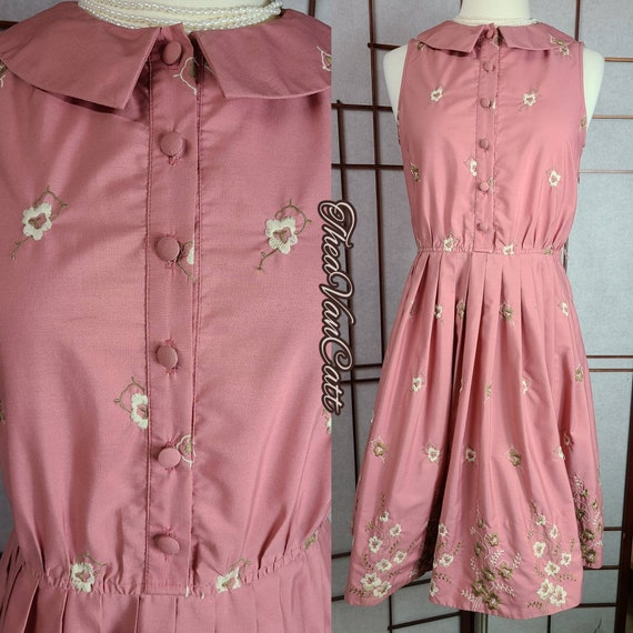 Vintage 1990's BETSEY JOHNSON Embroidered Floral … - image 3