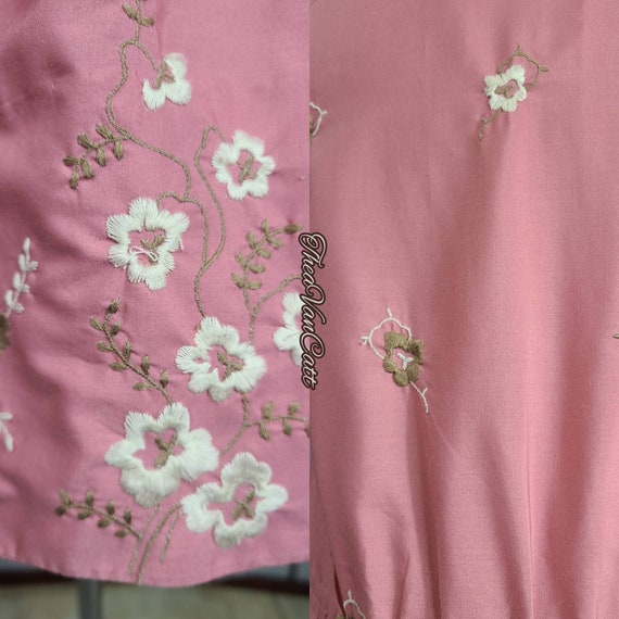 Vintage 1990's BETSEY JOHNSON Embroidered Floral … - image 6