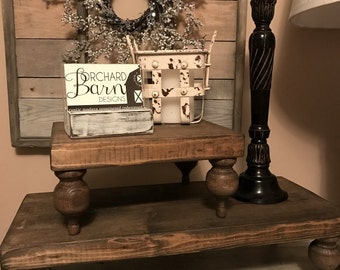 Large Farmhouse Pedestal Stand