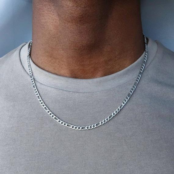 sailimue Figaro Cadena en Acero Inoxidable para Hombres Mujer Collar con Cadena de 4//6//9//13 mm Ancho Color Plata Oro Negro 46-76cm