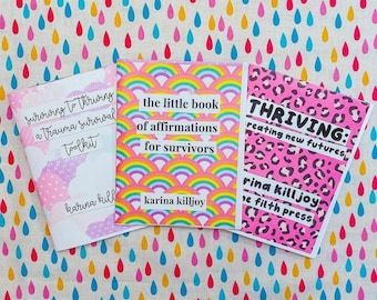 Thriving After Trauma Zine Savings Bundle: 3 Zines on Trauma Recovery & Healing for Survivors (color print)