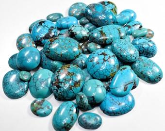 Tibetan Turquoise Gemstone Tibetan Turquoise Cabochon MM,28.5x20.5x6 Wholesale #2664 Natural Tibetan Turquoise Smooth Fancy Cabochon