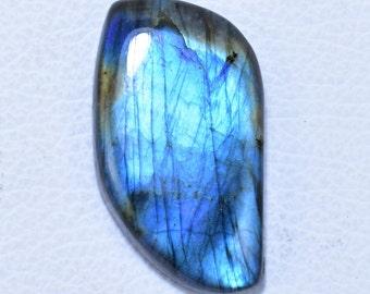 42X57X8 MM D Shape Natural Blue Green Flashy Labradorite Cabochon Big Size Flashy Labrdorite Loose Stone Highly Polished Gemstone R7099