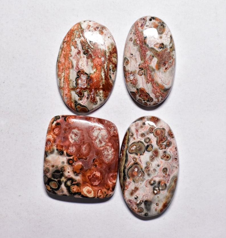 15 Carat Designer Mexican Leopard Skin Jasper Flatback Cabochon Jaguar Stone Multi Colour Loose Gemstone For Jewelry Wire Wrapping R3945