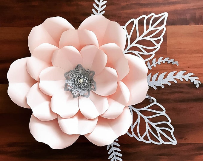 Paper Flowers -PDF Petal #165 Paper Flower Template with Base, DIGITAL Version - Trace and Cut File for DIY Giant Paper Flower