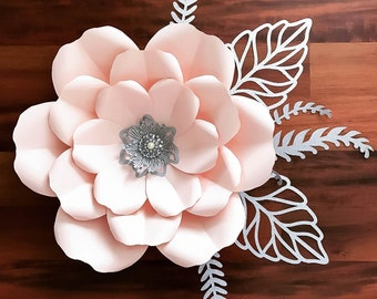 Paper Flowers Paper Flowers Svg Petal 155 Template For Etsy