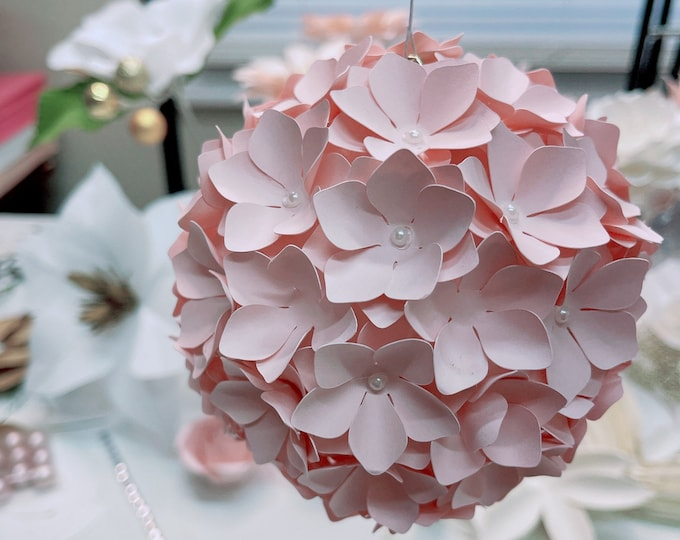 Hydrangea in SVG PNG DXF Paper Flower Template for Cutting Machine Ideal for Monogram Fillers or making Center for Giant Paper Flowers