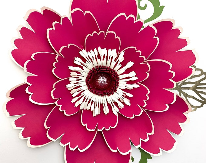 Paper Flowers SVG Petal 50 Paper Flower Template with flat Center DIGITAL file for Cutting Machines Such as Cricut and Silhouette Cameo