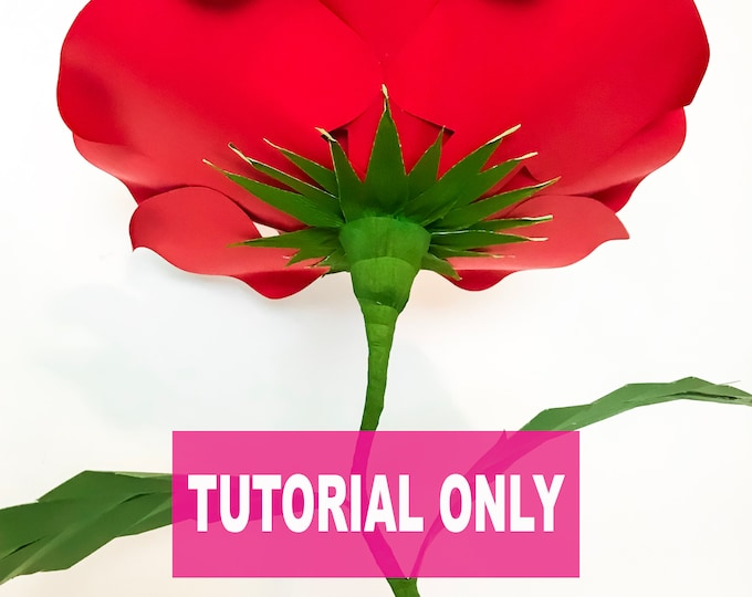 "TUTORIAL ONLY, DIY Free Standing 24"" Paper Flower Wedding and Event Centerpiece ( 5 Tutorials & Svg, Png, And Pdf Paper flowers - Templates)"