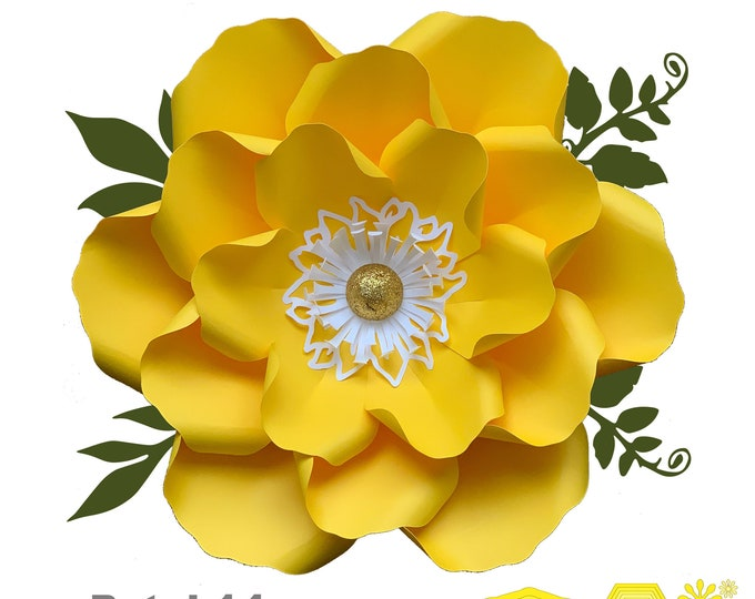 SVG PNG DXF Petal 14 Paper Flower Templates Cut files for Cutting Machines Such as Cricut and Silhouette Cameo Diy Paper Flowers project