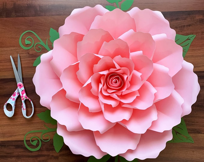 PAPER FLOWERS SVG Petal 99 Cut files, Dxf, Png, Cricut Files, Unlimited Giant Paper Flowers, Wedding Decor, Home Decor, Party Decorations