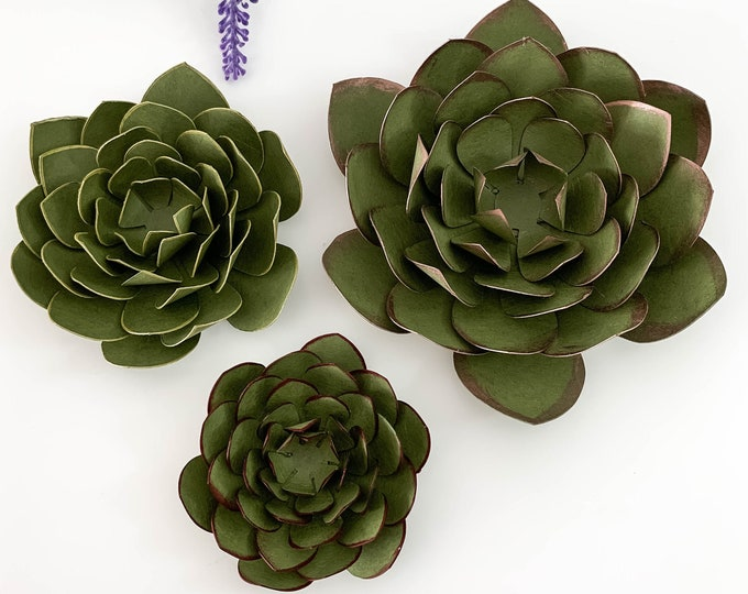 SVG PNG DXF Succulent Cut Files Cutting Machine No resizing needed can make 3 different sizes with 7 sizes petals per size