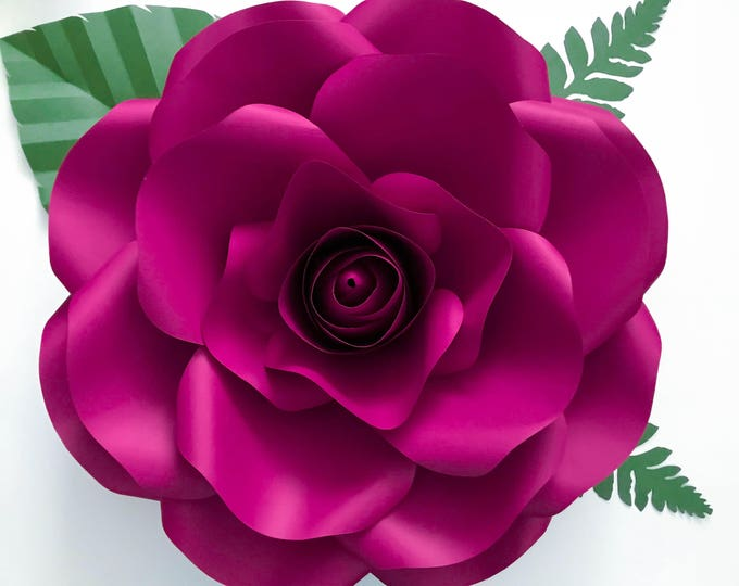 """Paper Flowers-Medium Rose/PDF Printable/Giant Paper Flower Templates/Center Bud Included for Wedding and Event Decor / DIY 15-16"""""""