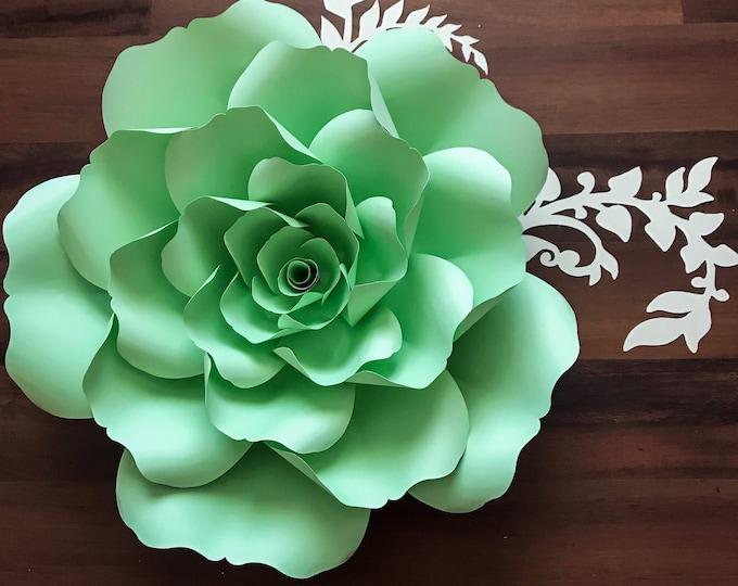 Paper Flowers -PDF Petal #135 Paper Flower template with Center, Digital Version, Original  by Annie Rose,
