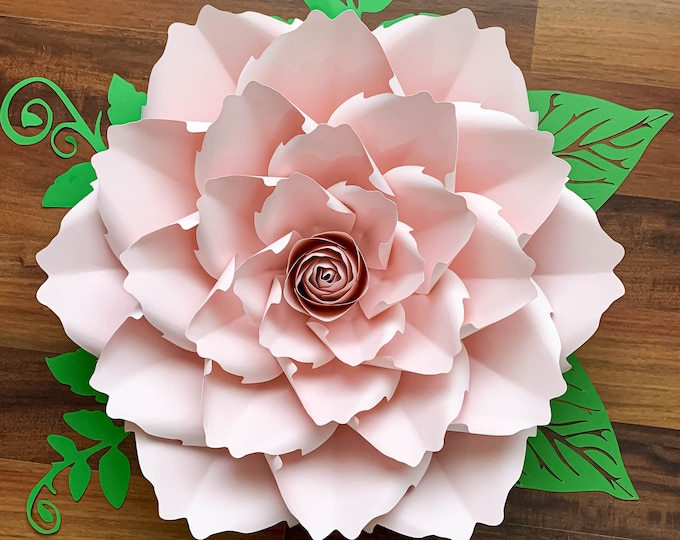 PDF PAPER FLOWERS Petal # 140 Paper Flower Template, Digital Printable Instant Download, Spiky Paper Rose for wedding decor and events