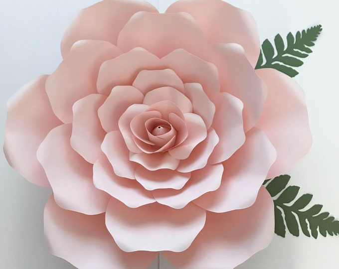 SVG Petal #19 Template for DIY Giant Paper Flowers w/ Rose budCenter, Digital Version, Original  by Annie Rose, Cricut and Silhouette Ready
