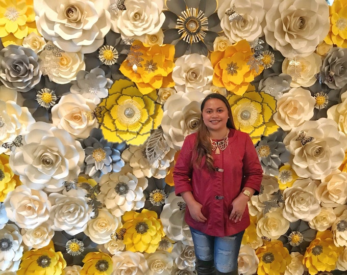 Tutorial On Building a Massive Paper Flower Wall For Weddings, Photo Booth , Backdrop, and Event Decor Videos and Ample of Tips Included