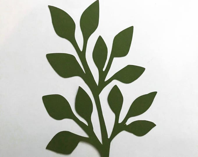 Paper Flowers -PDF Leaves #6-3 Sizes Easy to Trace n Cut Greenery Pattern:Instant Download from Crafty Sagittarius