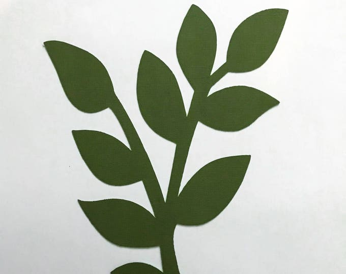 Paper Flowers -PDF Leaves #12-3 Sizes Easy to Trace n Cut Greenery Pattern:Instant Download from Crafty Sagittarius