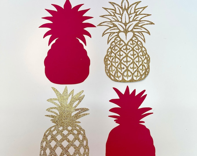 Pineapple SVG PNG DXF Tiff Cut Files for Cutting Machines Like Cricut and Silhouette Cameo ideal for Hawaiian Tropical Birthday Party Events