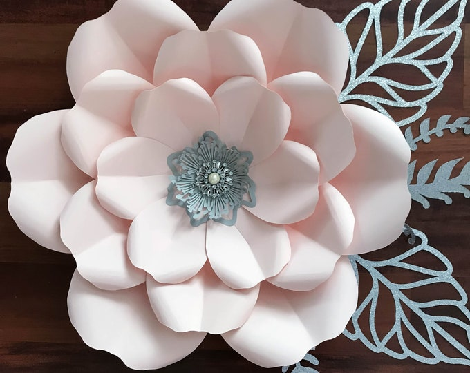 Paper Flowers -SVG Petal #165 Paper Flower Template with Base, DIGITAL file for Cutting Machines Such as Cricut and Silhouette Cameo