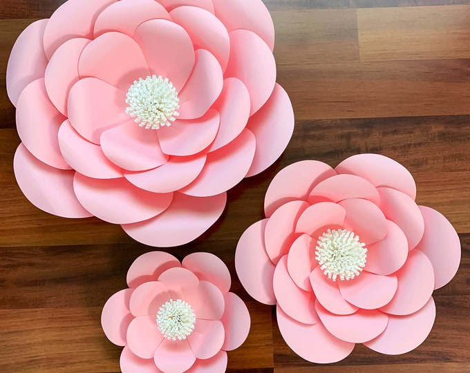 PDF Petal  1 Printable Paper Flowers Template Manageable for trace and Cut DIY Giant Paper Flower 3d Paper Flower for wedding and events