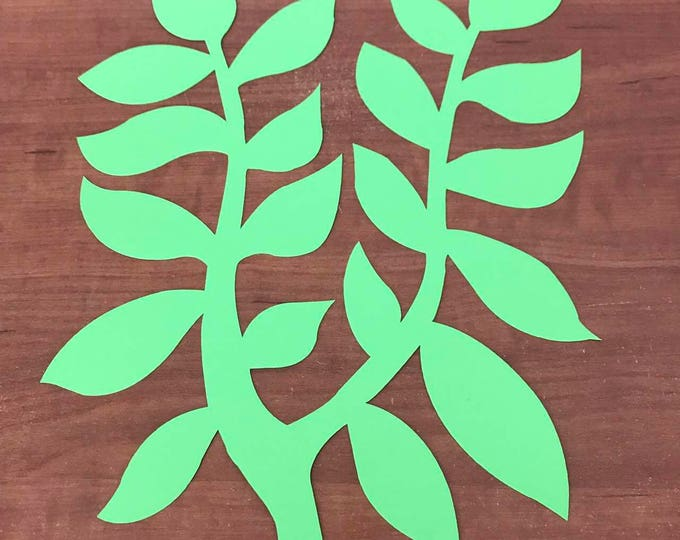 Paper Flowers -PDF Leaf #76 - Digital Leaf Template - Instant Download- Trace and Cut-Hand Cut stencil