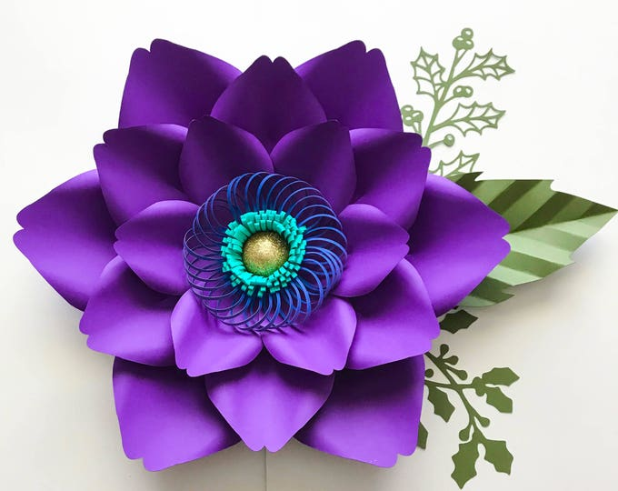 SVG Petal #23 Paper Flower Template, Digital Version,- Original Design by Annie Rose - Cricut and Silhouette cutting machines Ready-DIY