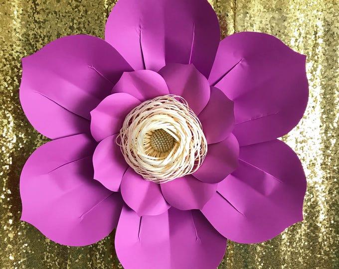 Paper Flowers -SVG Petal #48 Paper Flower template, Digital Version, The Honey Bee - Original  by Annie Rose, Cricut Ready