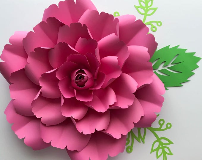 Paper Flowers - SVG Petal #137 template with Center, Digital Version, Original  by The Crafty Sagittarius, Cricut and Silhouette Ready