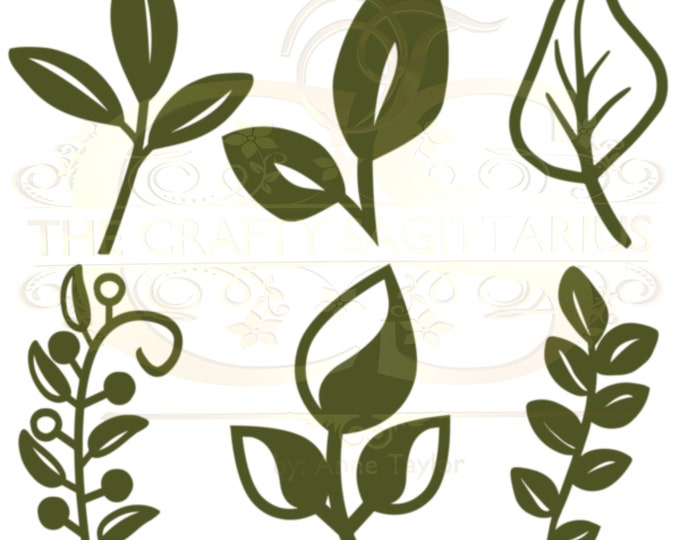 Svg Png Dxf Set 21 -6 different Leaves for Giant Paper Flowers MACHINE use Only Cricut and Silhouette DIY and Handmade Leaves Templates