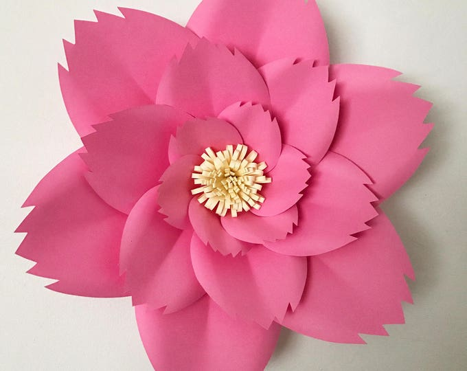 Paper Flowers -PDF Petal #46 Paper Flower Template with Base, DIGITAL Version - Original Design by Annie Rose