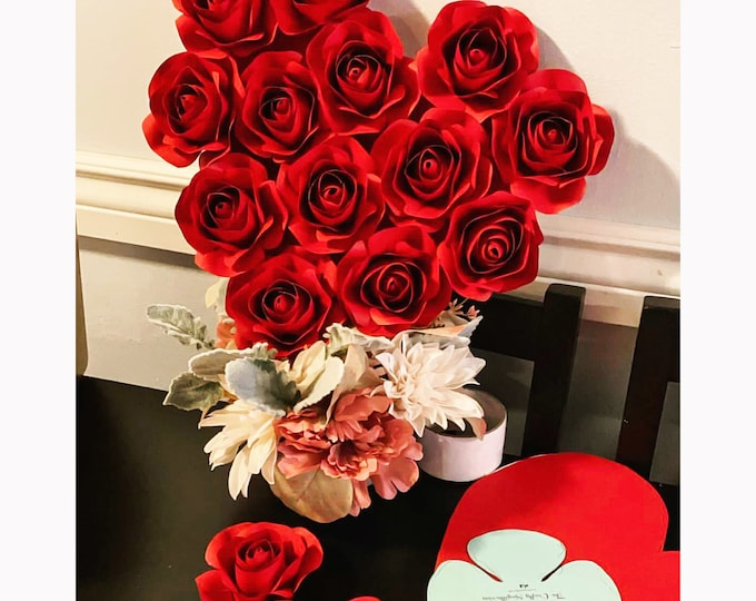 Rose Bud SVG PNG DXF Paper Flower Rose Center   Machine Cut Files   Valentines Decor   3D Paper Roses   Handmade Diy Gift Flower Templates